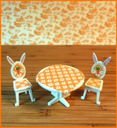 """Robin Betterley's Miniatures - 1/4"""" Bunny Bistro"""