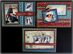Graphic 45 Place in Time Handmade Greeting Cards Winter/New Year