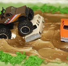 monster truck bday cake