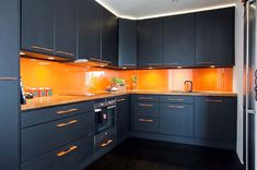 Pumpkin orange Kitchen Color The Most Ideal Paint Colours For Your New Kitchen In 2014 Kitchen Room Design, Modern Kitchen Design, Kitchen Colors, Kitchen Decor, Kitchen Modular, Willow House, Cabinet Decor, Black Kitchens, Home Interior