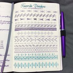Whether you& a modern Leonardo da Vinci or a true beginner, these are stunningly easy bullet journal doodles you can totally recreate. My Journal, Bullet Journal Inspiration, Journal Pages, Journal Ideas, Journal Design, Bullet Journel, Smash Book, Zentangle, Photo Instagram