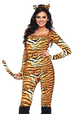Adult Women's Sexy WILD TIGRESS Full Length TIGER Costume! Sizes XS, S/M & M/L #LegAvenue #CompleteCostume