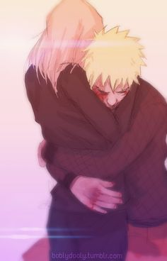 Narusaku - I rushed towards her and threw myself in her arms the one place I feel safe.