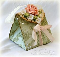 """Wild Orchid Crafts: Bag created using one sheet of 12"""" paper rose, gift boxes, gift wrap, paper craft, papercraft, paper bags, favor boxes, craft bags, paper boxes"""