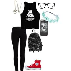 20 by grace-is-a-penguin on Polyvore featuring Pieces, Converse, Yak Pak, Wet Seal and Muse