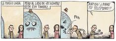 Liniers: -Le parece linda... pero al lado de Ud. siempre está esa timidez -PUM -¡Rápido! ¡¡Dame tu teléfono!!