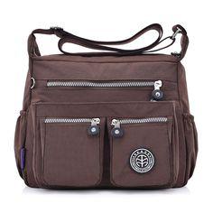 6bcc9d1f2b ... Buy Women Nylon Shoulder Bags Female Solid Zipper Luxury Female Handag  Designer Messenger Bags Summer Beach Crossbody Bag Sac A Main from Reliable  sac a ...