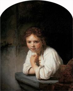 Girl in the Window - Rembrandt 1645