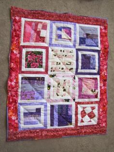 Scrappy Crazy Quilt Design - with a bit of a tutorial