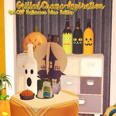 "grilledcheese-aspiration: "" Halloween Wine Bottles So as soon as I saw these bottles by @onebillionpixels I just had to have them for TS2, so I converted them over! (OBP TOU here.) ""These bottles are hella cute, found in clutter for $5 simoleons. All..."