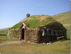 A reconstruction of Eric the Red's house in Iceland.