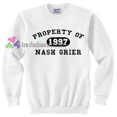 Property of Nash Grier Sweater gift sweatshirt unisex adult custom clothing size S-3XL //Price: $22.99  //