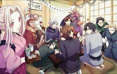 Fate/Zero and all its Masters and (almost all...) Servants ...plus little Shiro from Fate/Stay Night. I LOVE THIS PIC!! xD