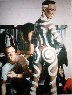 Keith Haring & Grace Jones