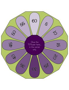 Multiplication Flower Wheels - Facts from 0 - 12