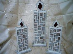 """Kerze """"Vintage"""", klein von Mosaikhandwerk auf DaWanda.com"""