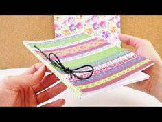 DIY Notizbuch & Tagebuch selber machen   Buch selbst binden   tolles Heft basteln & gestalten - YouTube