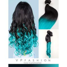 Black to Dark Purple Mermaid Colorful Ombre Indian Remy Clip In Hair... ❤ liked on Polyvore featuring accessories, hair accessories, hair, black hair accessories, indian hair accessories and hair extension accessories