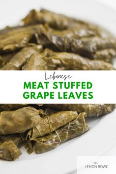 Very popular in several Mediterranean countries as well as a family favorite, these Lebanese stuffed grape leaves are filled with meat, rice and lemon juice.