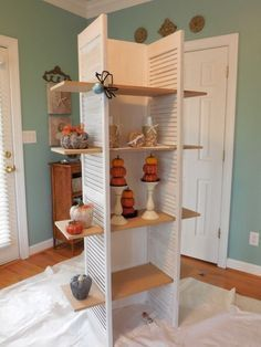 $10 Shutter Display Shelf. Perfect for Antique Booth, Craft or Sewing Room, Laundry room