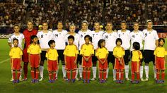 TOKYO, JAPAN - SEPTEMBER 08: The team of Germany lines up before the FIFA U-20 Women's World Cup Japan 2012, Final match between USA and Germany at National stadium on September 8, 2012 in Tokyo, Japan. (Photo by Martin Rose - FIFA/FIFA via Getty Images)