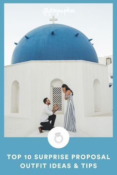 """Wondering what to wear for your proposal moment? We've got you covered with engagement photo ideas for every couple, occasion, and location you can imagine! We've planned and captured thousands of picture-perfect proposal memories around the world. Capturing this magical moment with photos allows you to look back on the exact moment when you or your partner said """"YES!"""" for years to come. 📸 Find them at the link! Perfect Proposal, Surprise Proposal, Proposal Ideas, Light Colors, Colours, Proposal Photographer, Cute N Country, Marry You, Looking Back"""