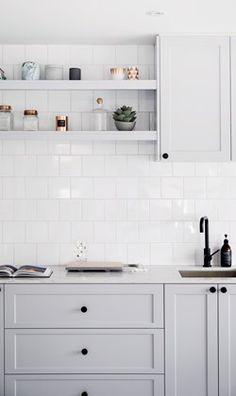 4 Innovative Tips: Minimalist Decor With Color Interior Design minimalist kitchen backsplash woods.Minimalist Decor Minimalism Home minimalist interior living room wall art.Minimalist Home Plans Bath. Grey Kitchen Cabinets, Decor, Home Kitchens, Kitchen Design, Kitchen Renovation, Interior, Home Decor, Hamptons Kitchen, Kitchen Styling