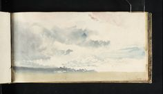 Artwork page for 'Study of Sky', Joseph Mallord William Turner, Watercolor Sketchbook, Artist Sketchbook, Turner Watercolors, Watercolor Clouds, Watercolour Art, Watercolor Landscape, Turner Painting, Joseph Mallord William Turner, Cool Sketches