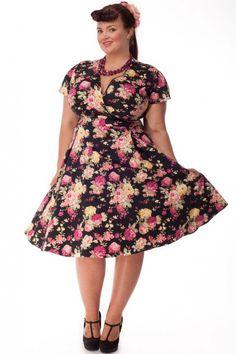 ca6d6da8918 Estella Plus Size Dresses   Retro