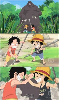 Luffy and Ace by kmanisr.deviantart.com on @deviantART