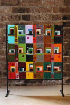 """Fused Glass 9 Faces- 18x18"""" Fused Glass Art, Stained Glass, Fuse Panel, Glass Tray, Window Wall, Artsy Fartsy, Mosaics, Creative Art, Carnival"""