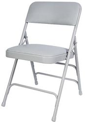 "Buy the Strongest Metal Folding Chairs. Our Metal Folding Chairs have 3 U Braces and 4 Hinges. Super Strong Steel Frame. Our Padded Metal Chairs have 1.5"" Comfort Cushions. We always offer Wholesale Factory Direct Pricing - Call Maria for Metal Folding Chair Shipping Specials - 855-653-8411 - http://www.california-chiavari-chairs.com/category_s/1832.htm"
