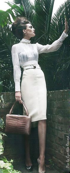 UK Marie Claire | cynthia reccord. #pencilskirts #skirts