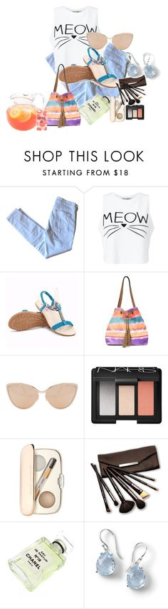 """""""Weekend Look"""" by sillycatgrl on Polyvore featuring 7 For All Mankind, Miss Selfridge, Jessica Simpson, Cutler and Gross, NARS Cosmetics, Jane Iredale, Borghese, Chanel, Ippolita and Kate Spade"""