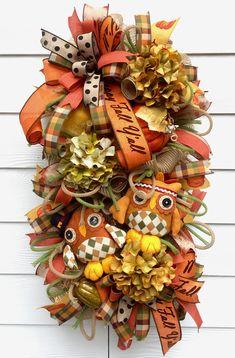 Fall Swag, Autumn Swag, Thanksgiving Swag, Fall Wreath, Thanksgiving Wreath