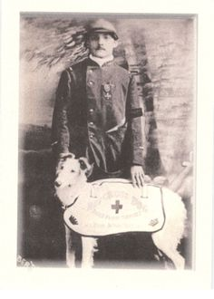 French Soldier and Red Cross Borzoi
