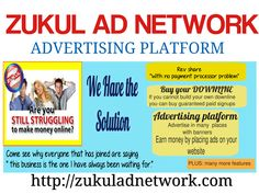 GUARANTEED to make your 2016 a great one financially!  That's correct! We GUARANTEE a successful income for those who join the ZUKUL AD NEWORK  And we offer GUARANTEED SIGN UPS... NOT JUST LEADS... GUARANTEED SIGN UPS to all of our members and also in ALL of our other income opportunities!  http://zukuladnetwork.com/ Facebook group - https://www.facebook.com/groups/ZukulAdNetwork.Group/  Join the One Link Family, talk to our members and see our results today on Facebook…