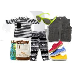 Black & White Pattern & Bright Accessories