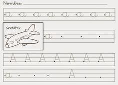 Hemos comenzado el curso repasando las vocales. Estas son las fichas que estamos haciendo: Sheet Music, Worksheets, Math, School Ideas, Kids Learning Activities, Alphabet, World, Writing Activities, Educational Activities