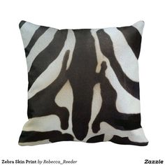 Zebra Skin Print Throw Pillows