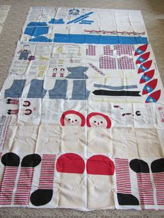 Cut and Sew Daisy Kingdom Raggedy Ann and Andy dolls and classic outfits panels
