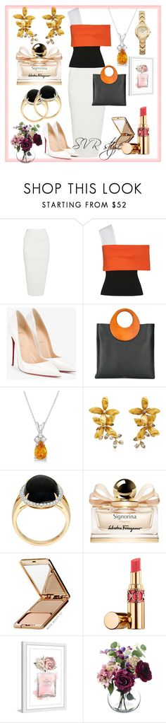 """SVR style 💫💎White"" by svrrvs ❤ liked on Polyvore featuring Rick Owens, Rosetta Getty, Christian Louboutin, Michael Kors, Allurez, Jennifer Behr, Salvatore Ferragamo, Napoleon Perdis, Marmont Hill and Seiko"