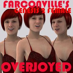 G2 Female Overjoyed Expressions (Daz Only) - $10.88 : Overjoyed with happiness.   THIS IS OVERJOYED expressions FOR G2F.   Special facial expressions meticulously made for the Female Genesis 2, ready to be used with this character in DAZ Studio 4 or greater.    This cannot be used in Poser.    Load Genesis 2 Base and apply expressions. May work with the Genesis character as well.  This collection of 30  expressions is ready for you to use in your art, renders and content. -----------------------