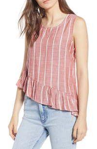 Clothing Red & White Stripe Asymmetrical Peplum Blouse Size 16 (XL, Plus Short Tops For Jeans, Cotton Tops For Jeans, Short Kurti Designs, Kurta Designs, Blouse Designs, Girls Boutique Dresses, Dress Neck Designs, Indian Designer Outfits, Peplum Blouse