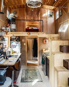 Sun-dappled inside the Moon Dragon tiny house. I am honored and thrilled to have spent 2 days here as a guest. and not the 'project manager.' - Design and build by Tiny House Cabin, Tiny House Living, Tiny House Plans, Tiny House On Wheels, Tiny House Builders, Tiny House Design, Tiny House Movement, Tiny House Prices, Box Houses