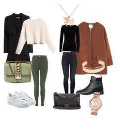 Munich by tamara-katharina on Polyvore featuring polyvore, moda, style, French Connection, MANGO, Roland Mouret, Miss Selfridge, Mother, adidas Originals, Topshop, Valentino, Chanel, Michael Kors, Leith, Louche, fashion and clothing