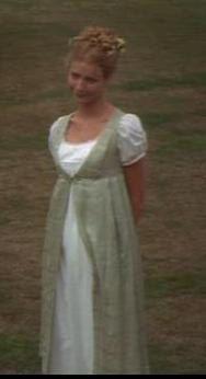 Regency Dress.Open Robe, Pelisse, Over Gown. Jane Austen. EMMA  MOVIE REPRODUCTION. £52.00, via Etsy.
