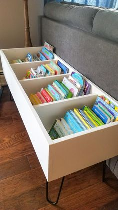 Playroom Design, Playroom Decor, Kids Storage, Book Storage Kids, Kids Book Organization, Storage Bins, Ikea Book, Book Bins, Bookshelves Kids
