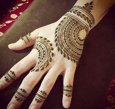 Heartfire henna design