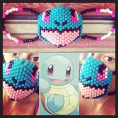 Pokemon Squirtle Kandi Mask